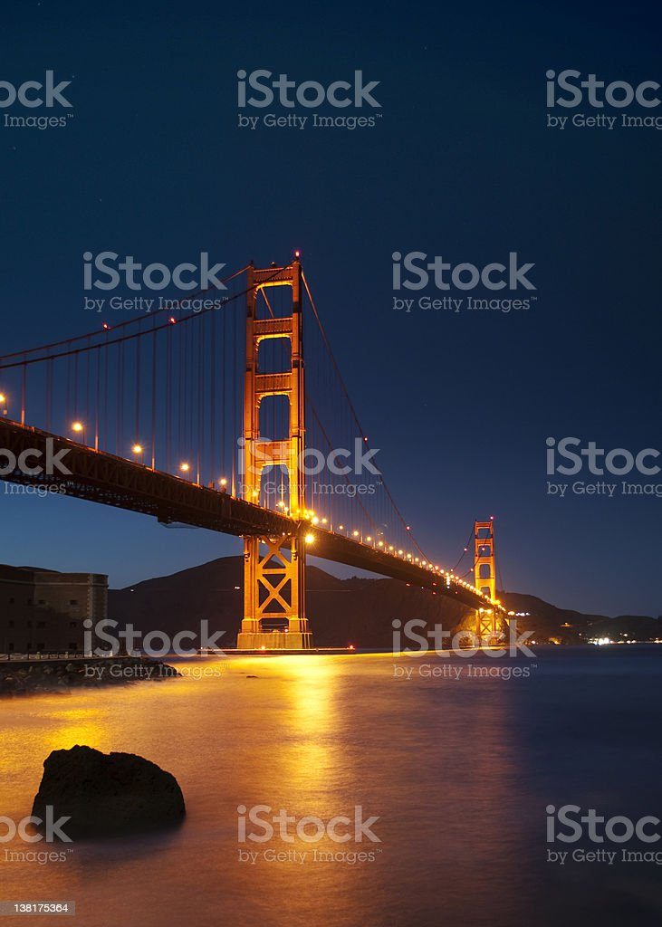 Lights of the Golden Gate royalty-free stock photo