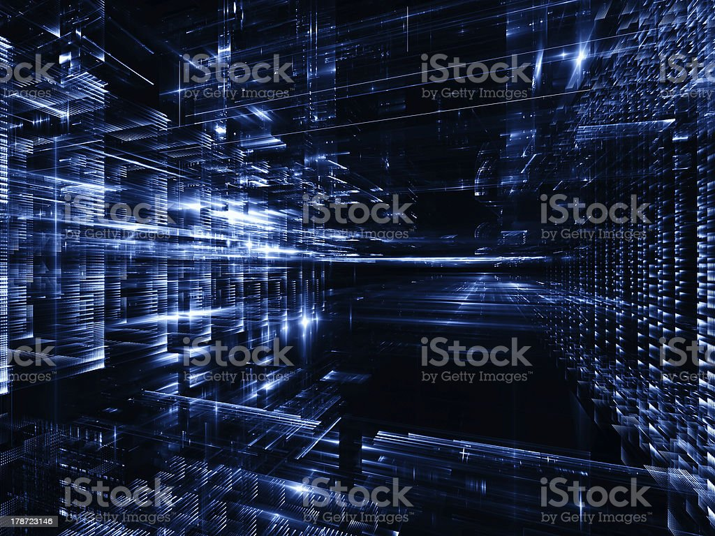 Lights of Urban Abstraction royalty-free stock vector art