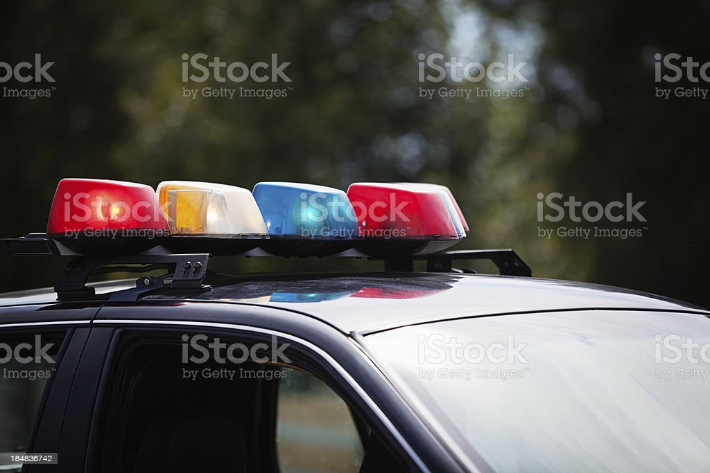 Lights on a police car royalty-free stock photo