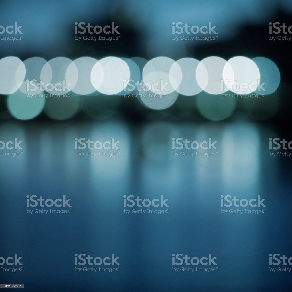Lights on a River stock photo