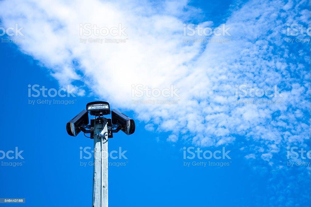 Lights on pole stock photo