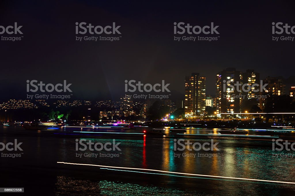 Lights on the Shore stock photo