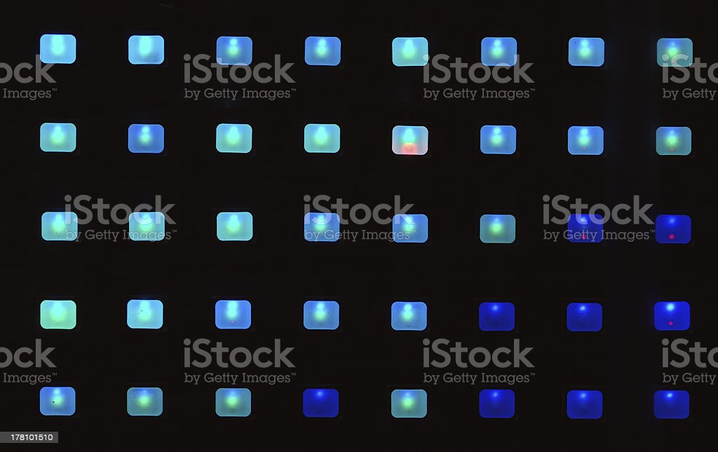 LED lights. royalty-free stock photo