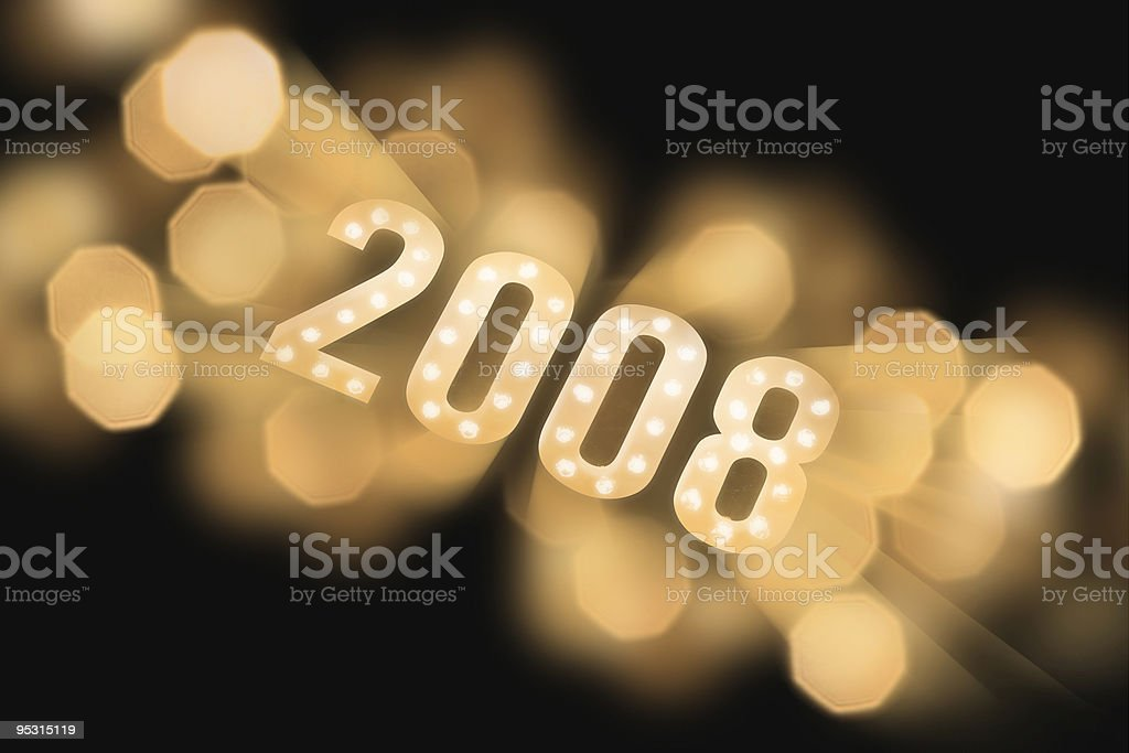 Lights showing 2008 royalty-free stock photo