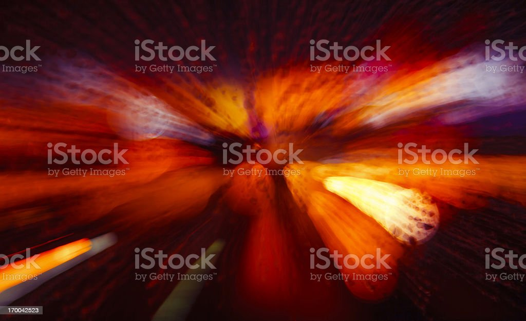 Lights with zoom effect royalty-free stock photo