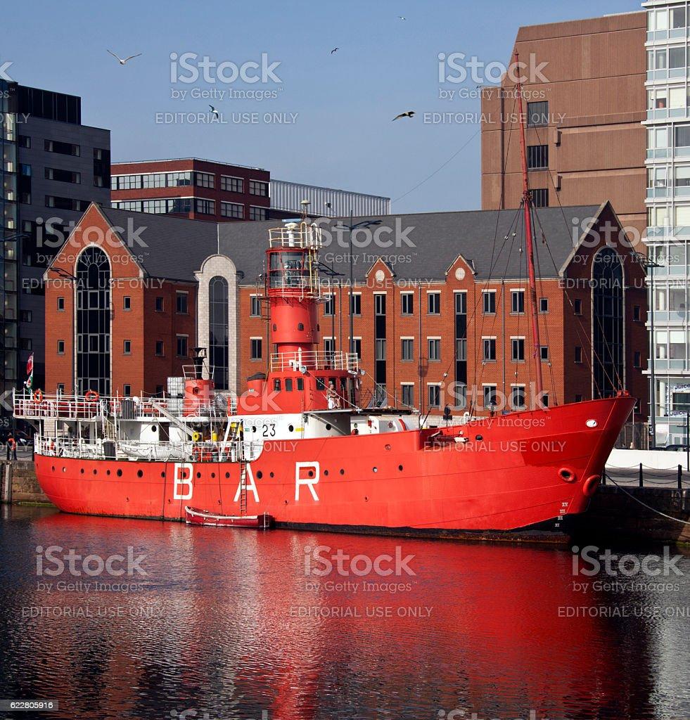 Lightship - Albert Dock - Liverpool - England stock photo