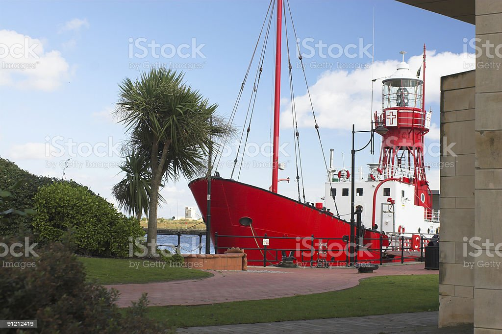 Lightship in Cardiff Bay, Wales stock photo