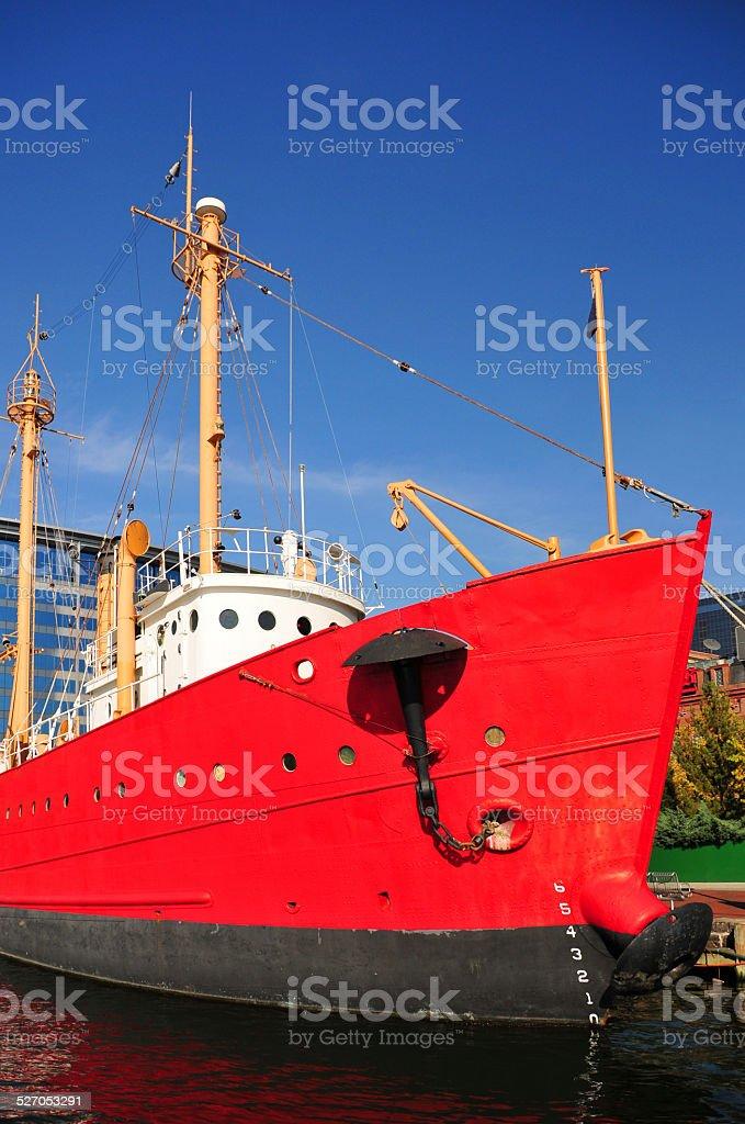 Lightship stock photo