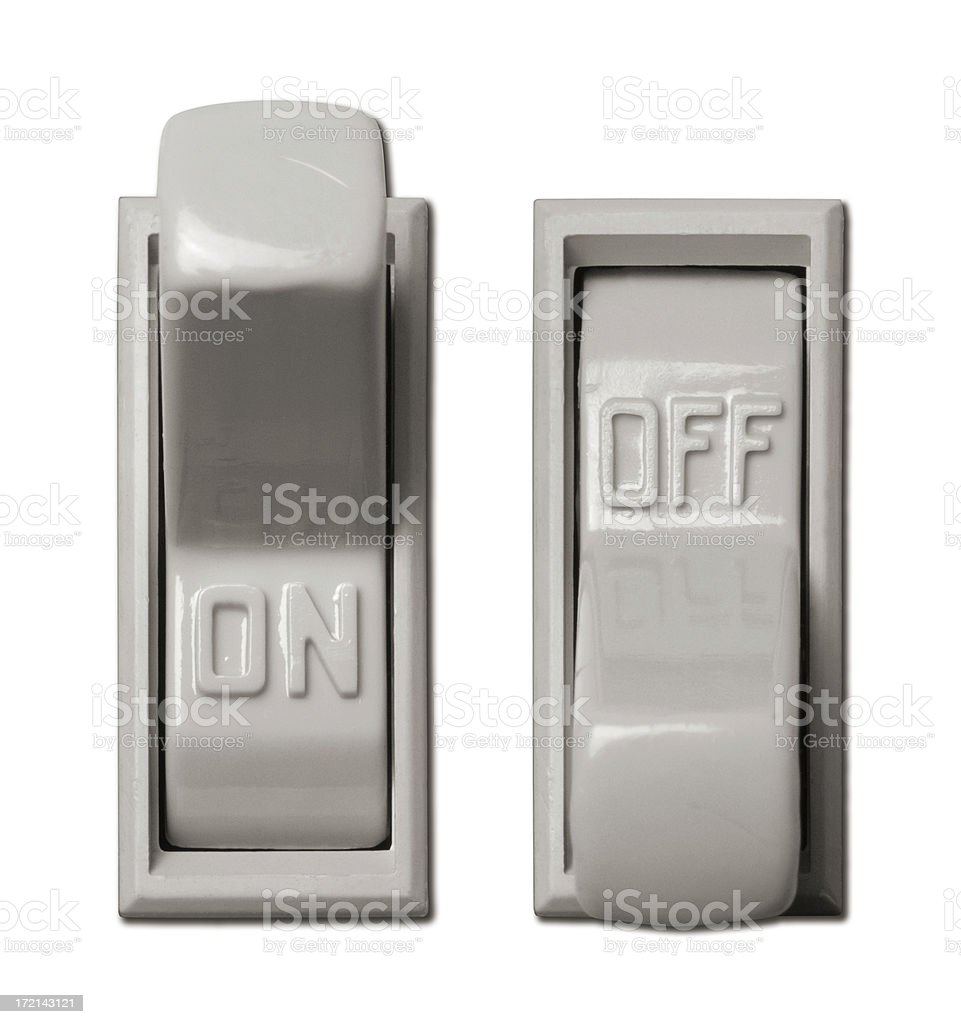 Lightswitches stock photo