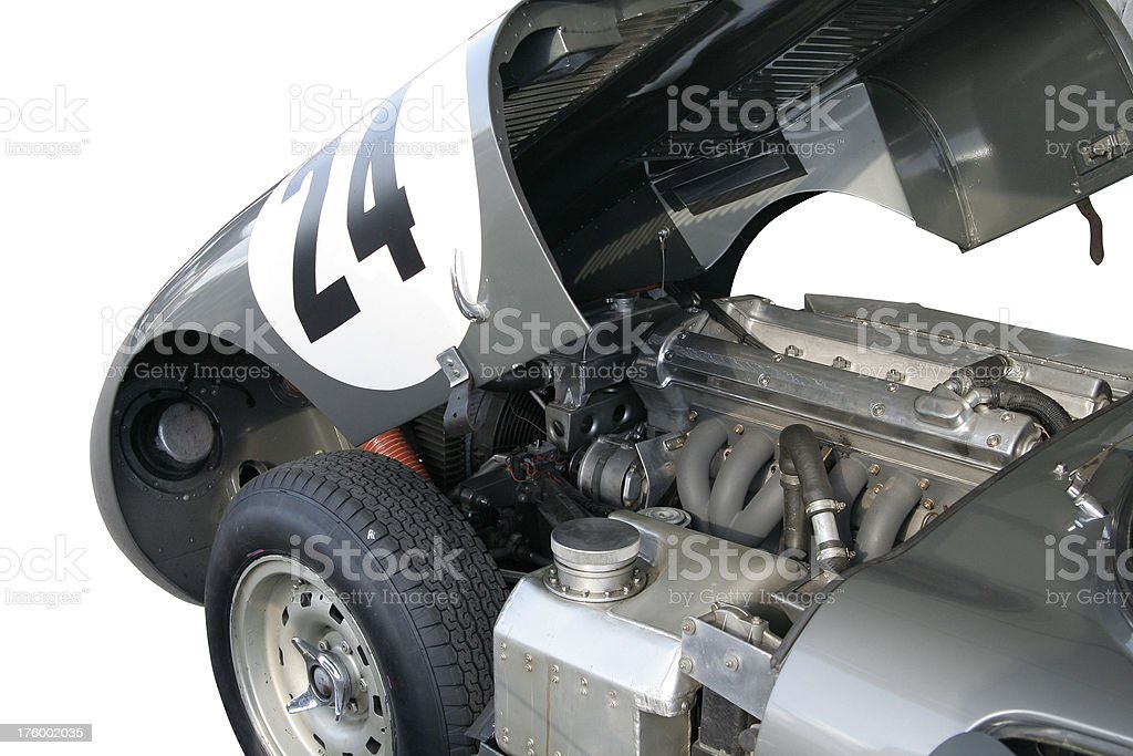 Lightweight E-type, Jaguar royalty-free stock photo