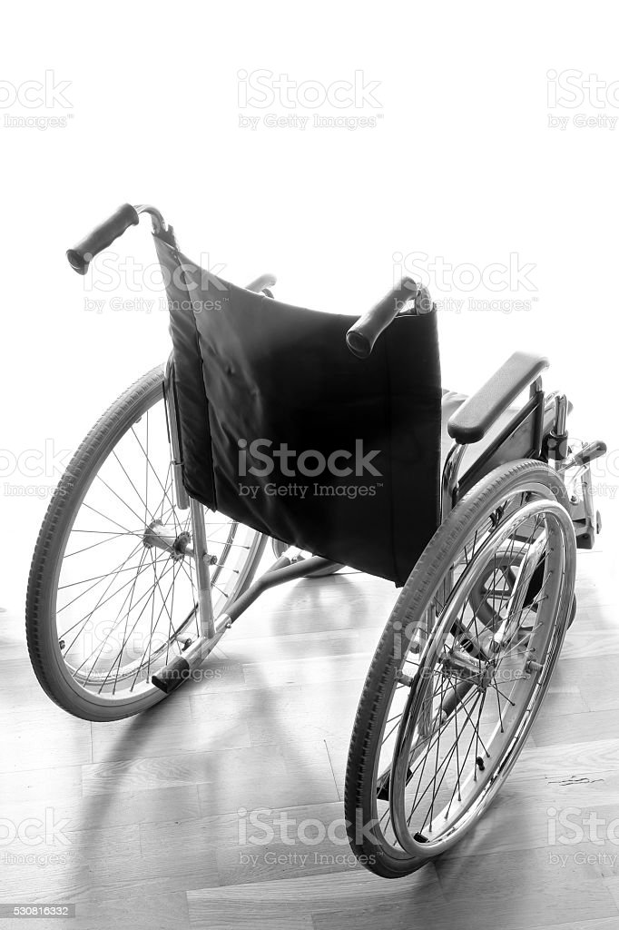 lightweight wheelchair to help disabled people walking stock photo