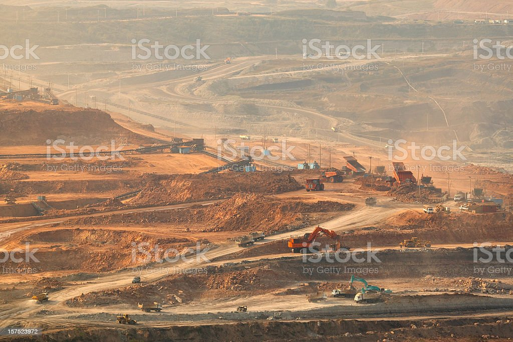 Lignite mining stock photo