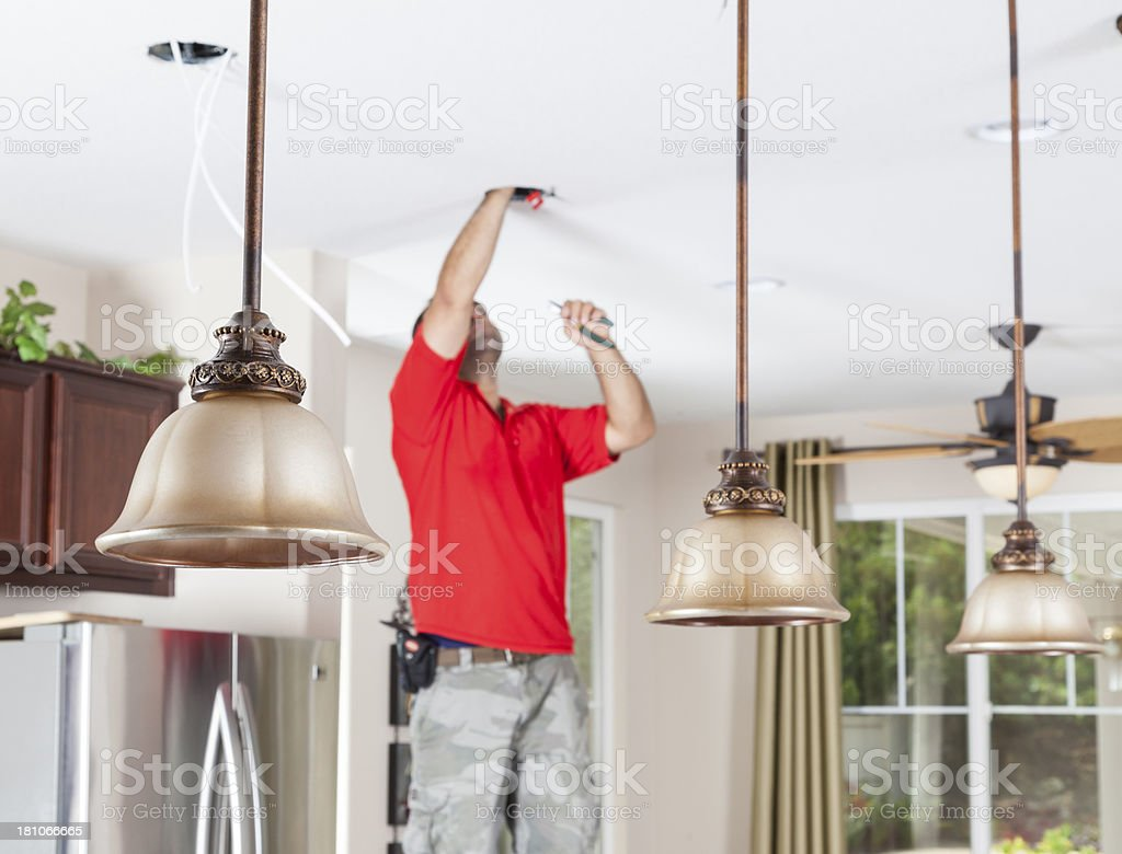 Ligting installation stock photo