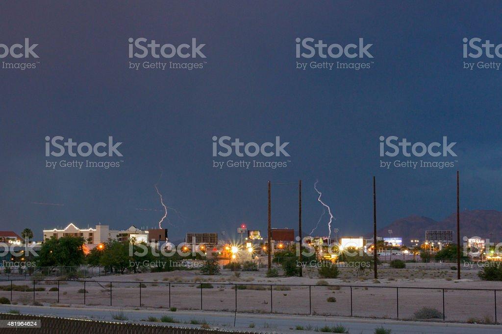 Ligtning sulla città di Las Vegas foto stock royalty-free