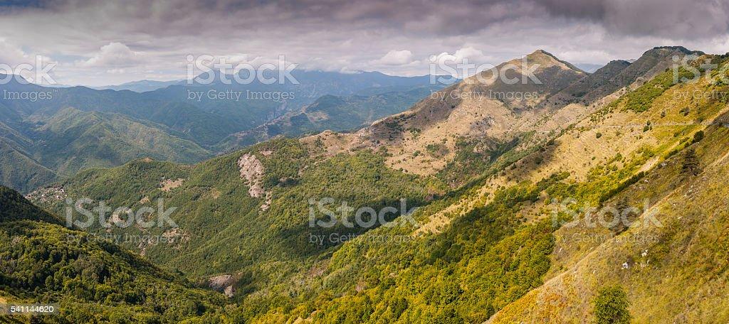 Liguria (Italy). Landscape near Triora stock photo
