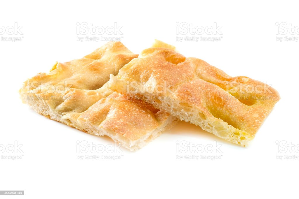 Ligurian focaccia bread stock photo