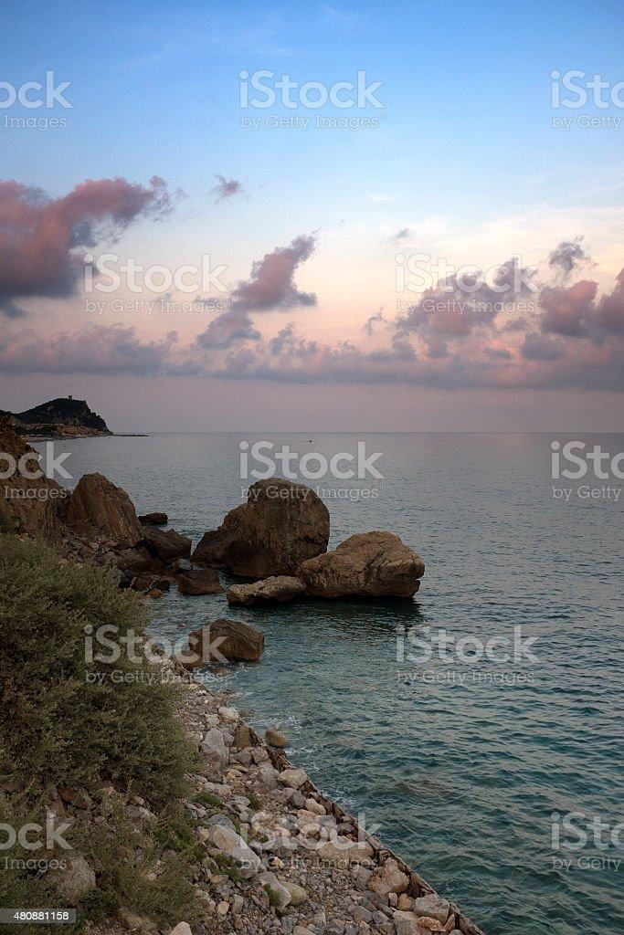 Ligurian Sea. Color Image stock photo
