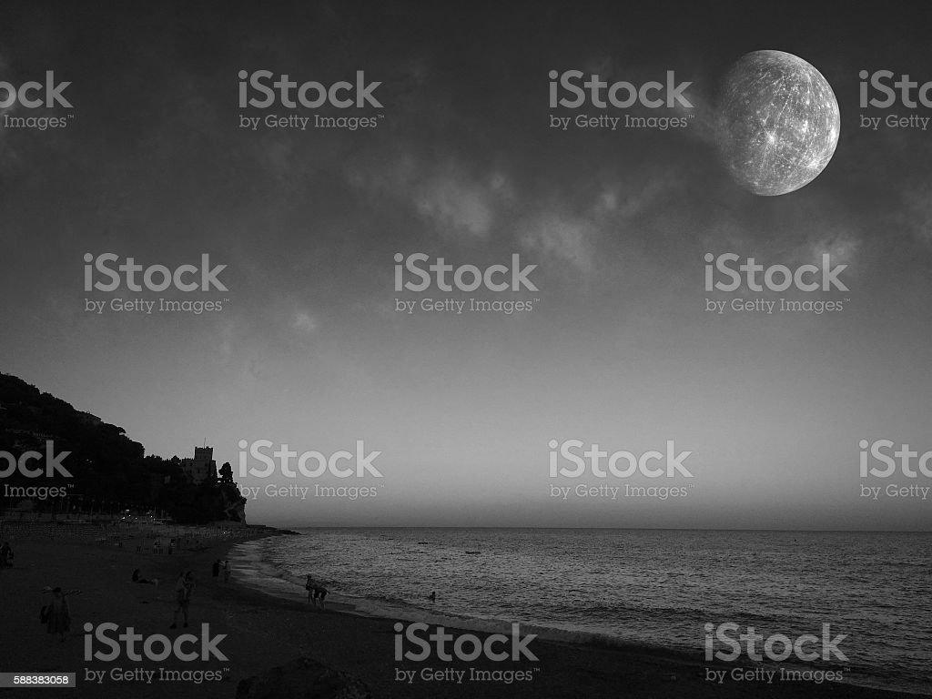 Ligurian sea stock photo