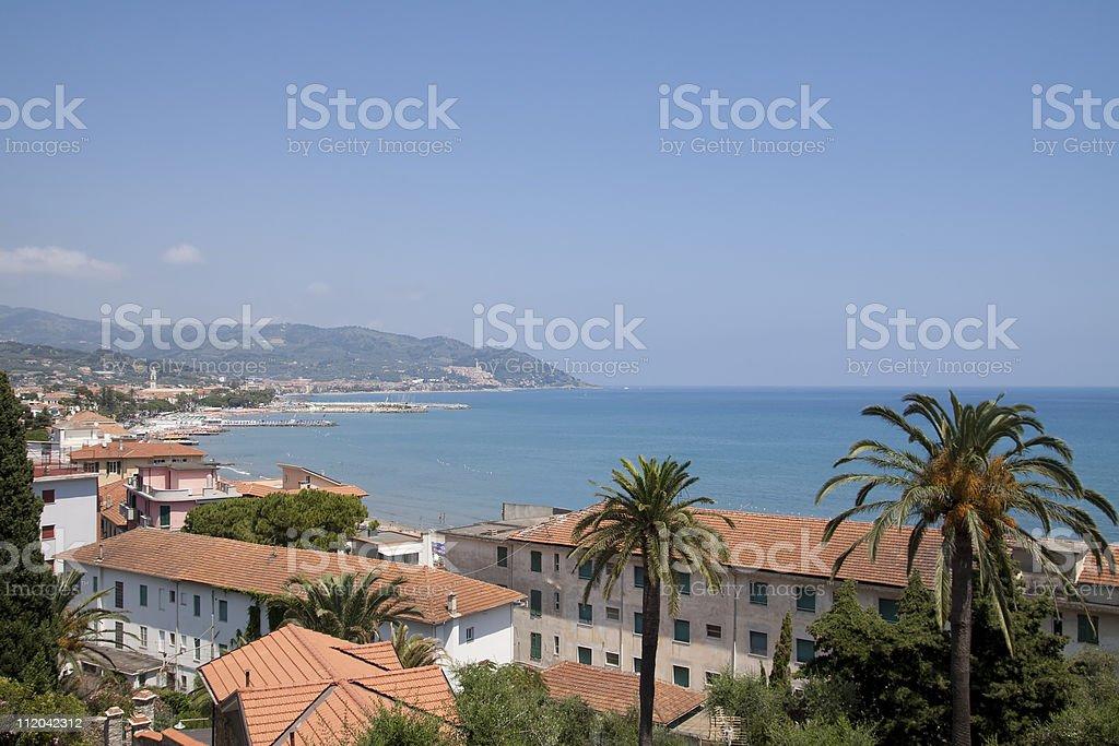 Ligurian Seascape, Diano Marina Coast - Liguria Italy stock photo