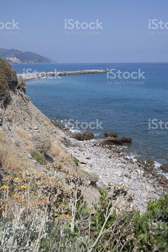 Ligurian Seascape, Liguria Panorama Coast - Italy stock photo