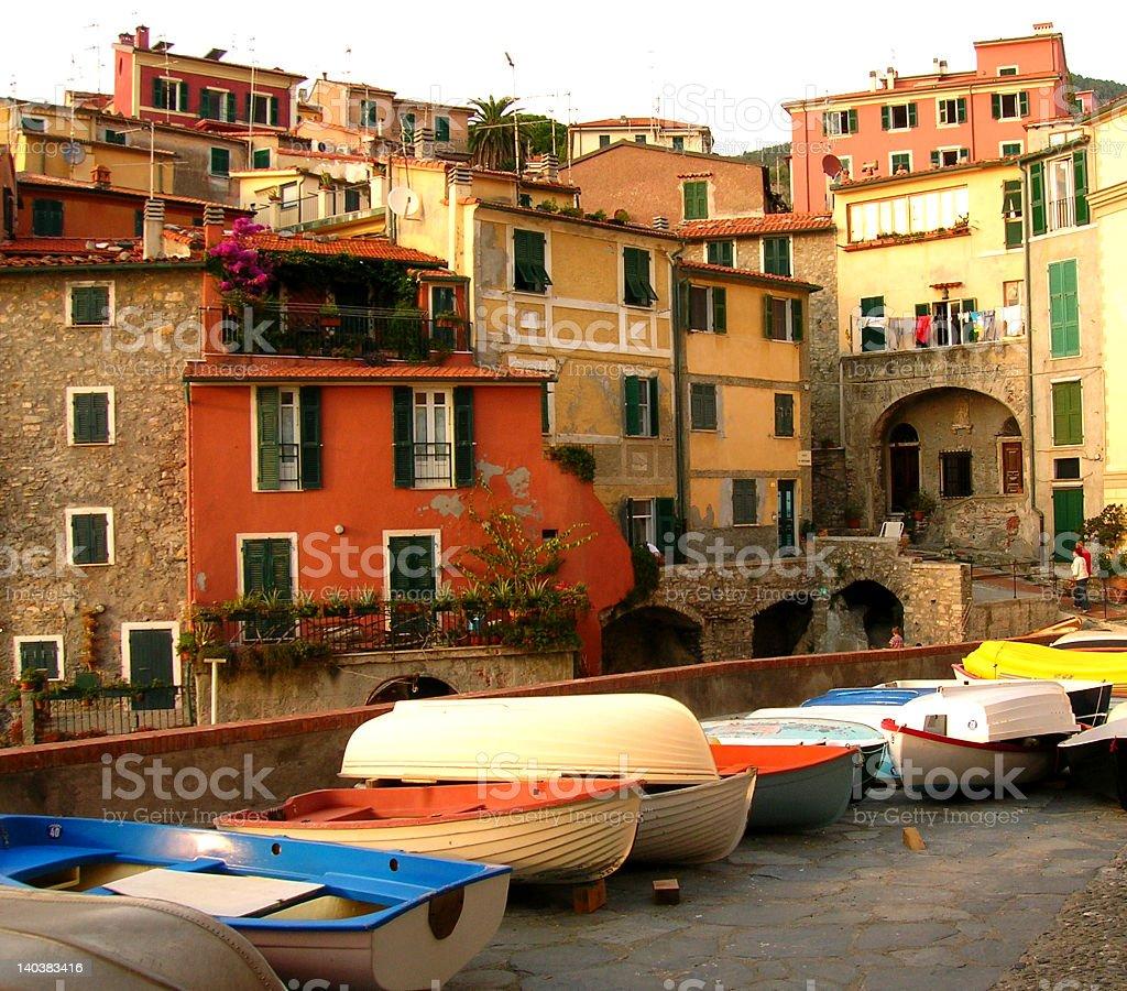 Ligurian village stock photo