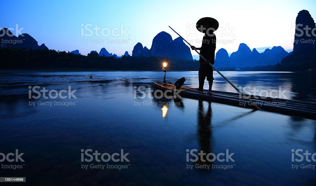Lijiang fishermen royalty-free stock photo