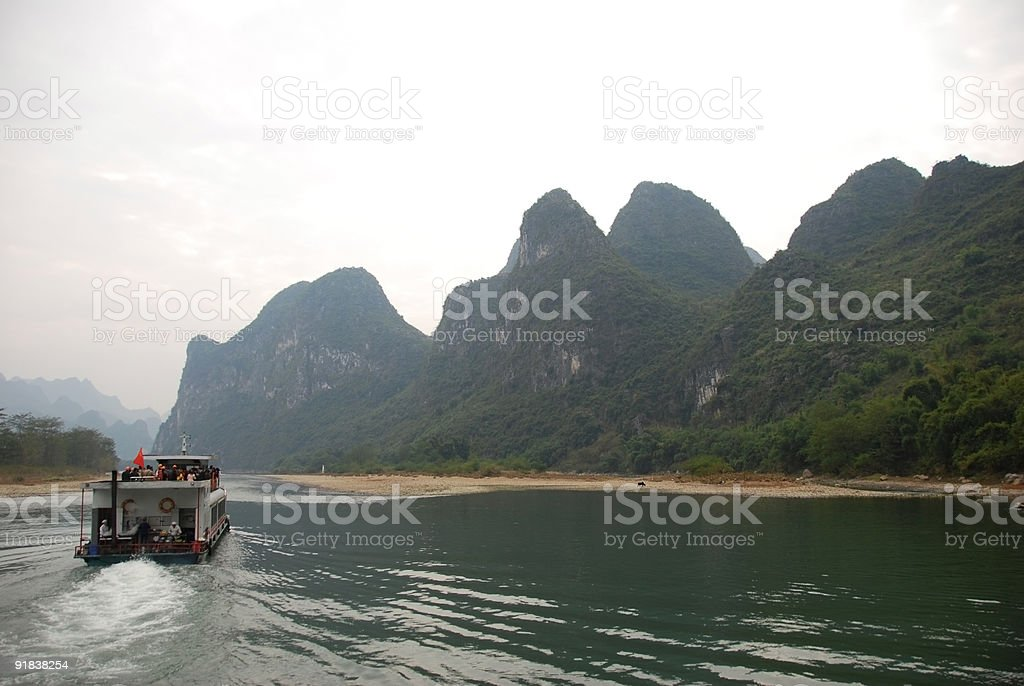 Lijiang River in Guilin, China royalty-free stock photo