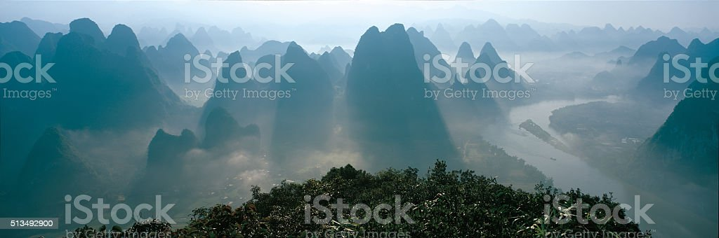 Lijiang River in Guilin stock photo