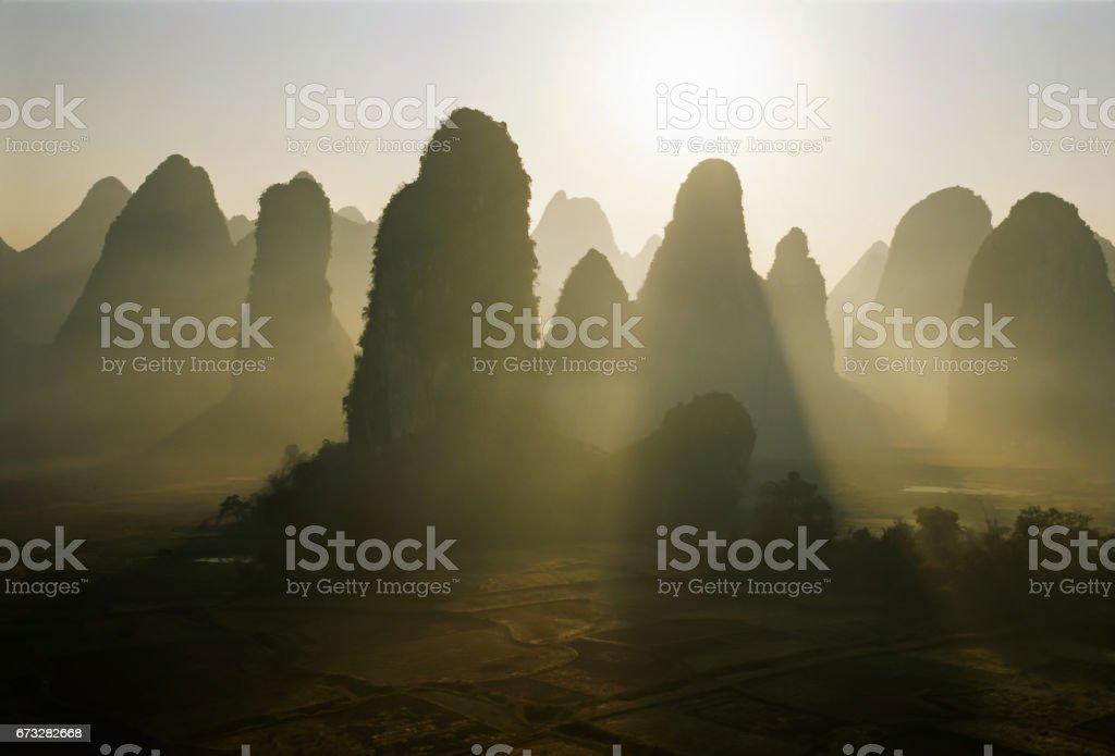 Lijiang River in Guilin stock photo