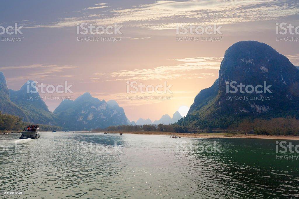 Lijiang River landscape stock photo