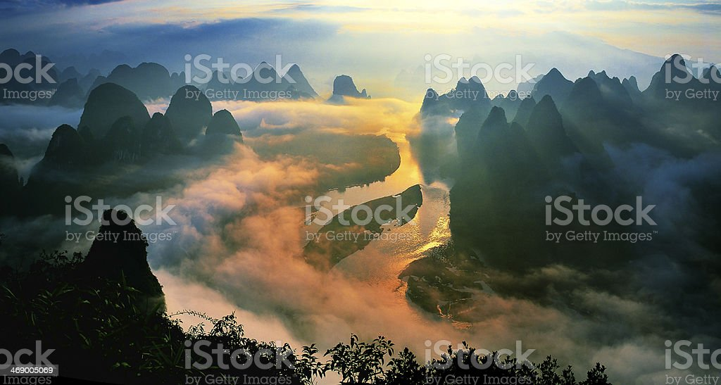 Lijiang Sunrise stock photo