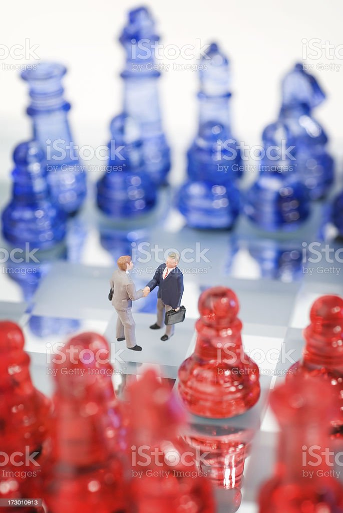 Like a chess game royalty-free stock photo