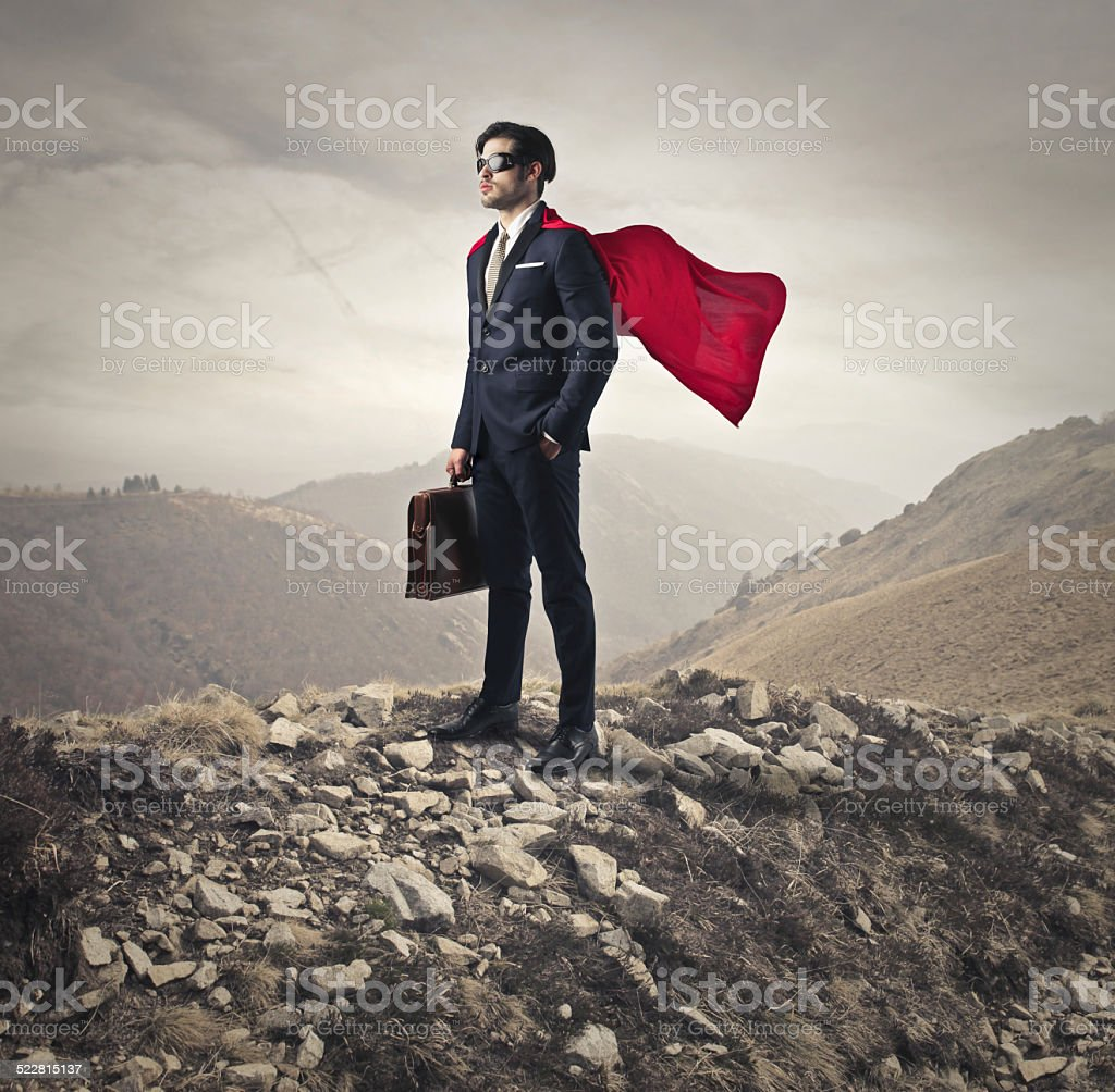 Like a hero stock photo