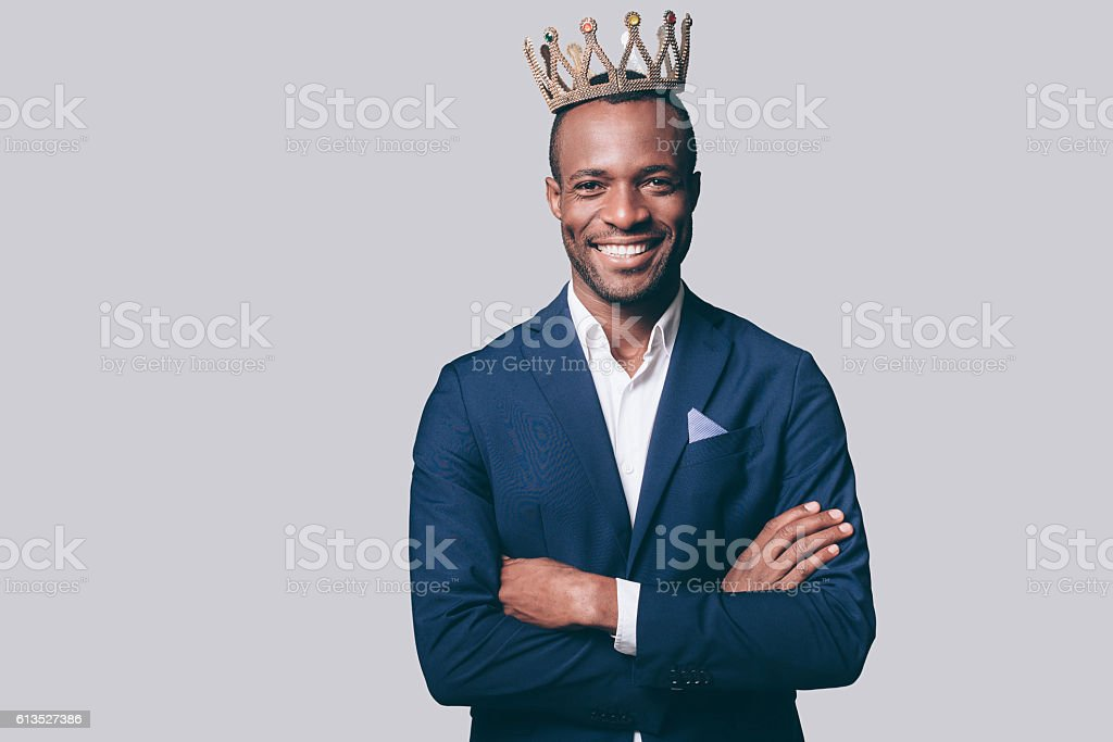 Like a king. stock photo