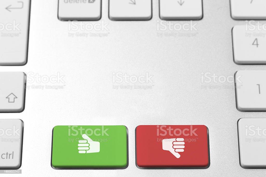 Like and dislike keys royalty-free stock photo