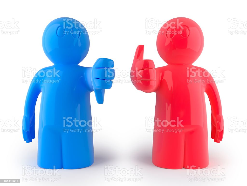 like and dislike stock photo