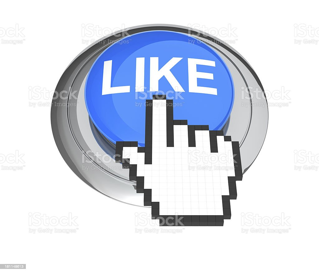 Like Button and Cursor Hand royalty-free stock photo