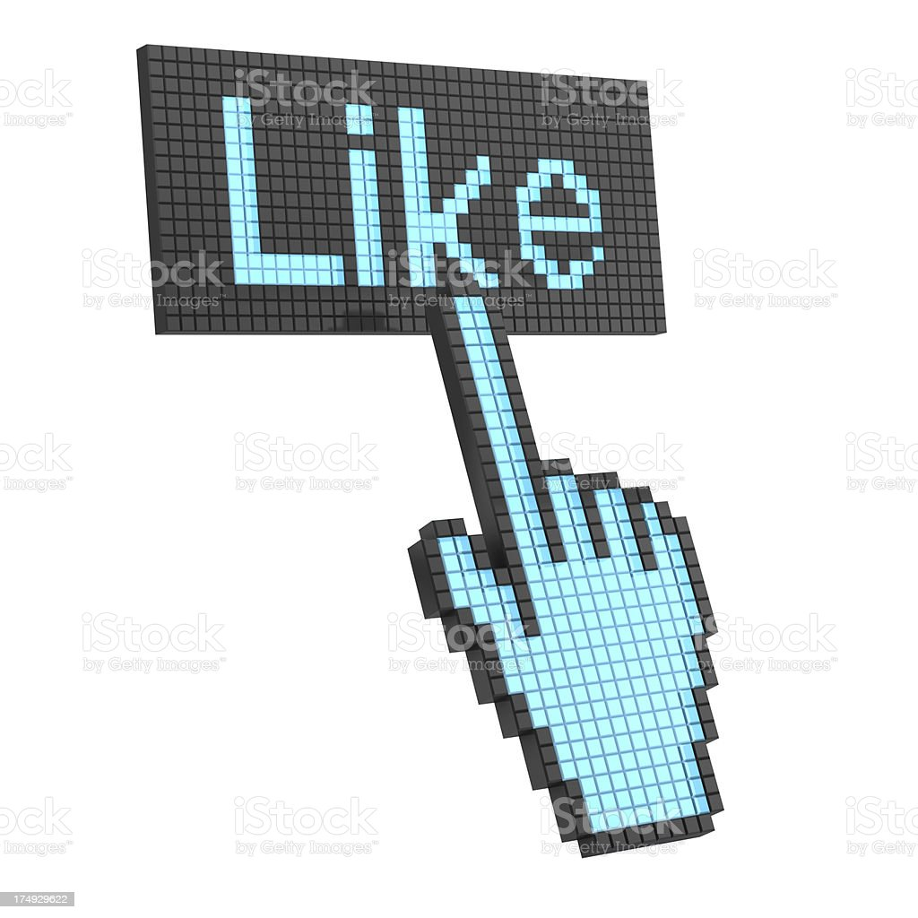 Like button royalty-free stock photo