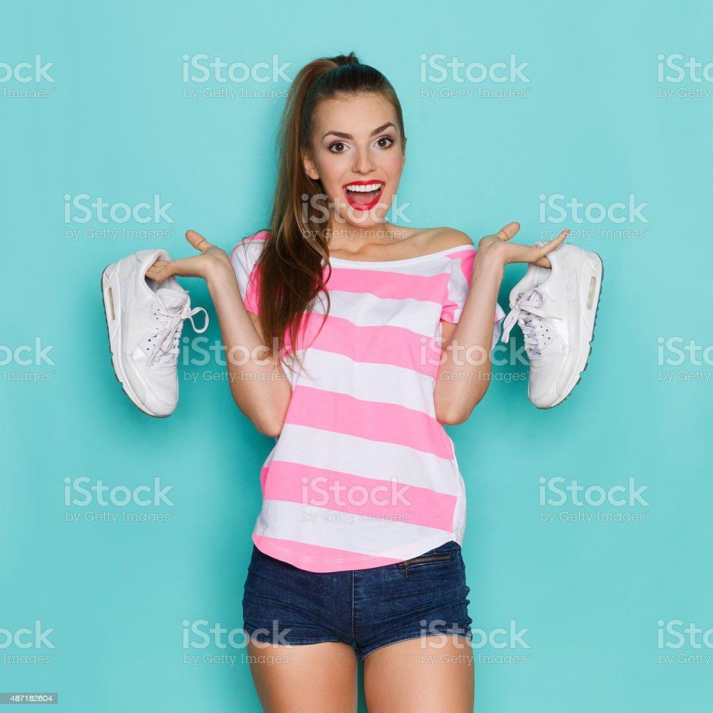 I Like Comfortable Sneakers stock photo