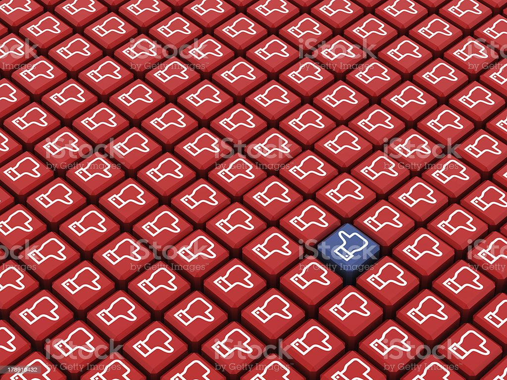 Like concept cubes royalty-free stock photo