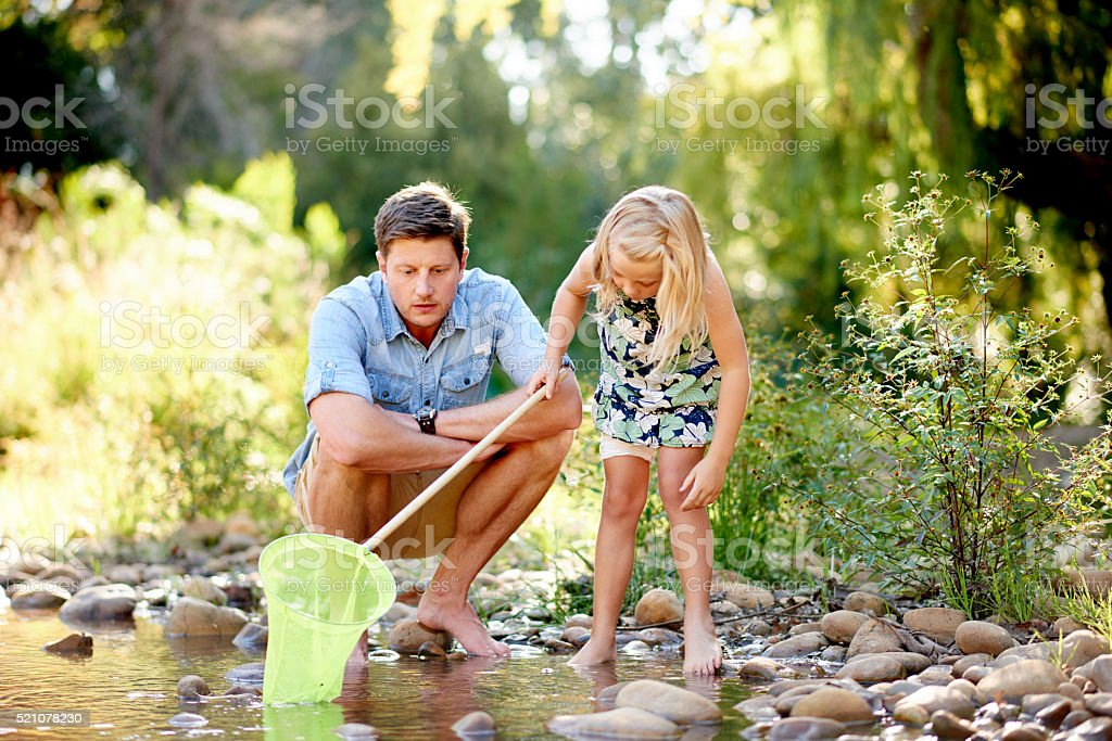 Like father like daughter stock photo