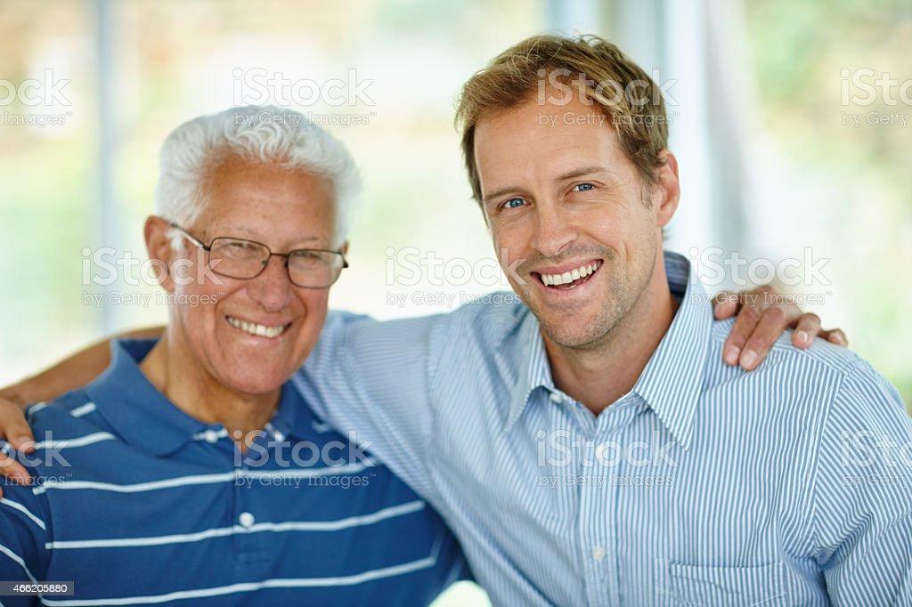 Like father, like son stock photo