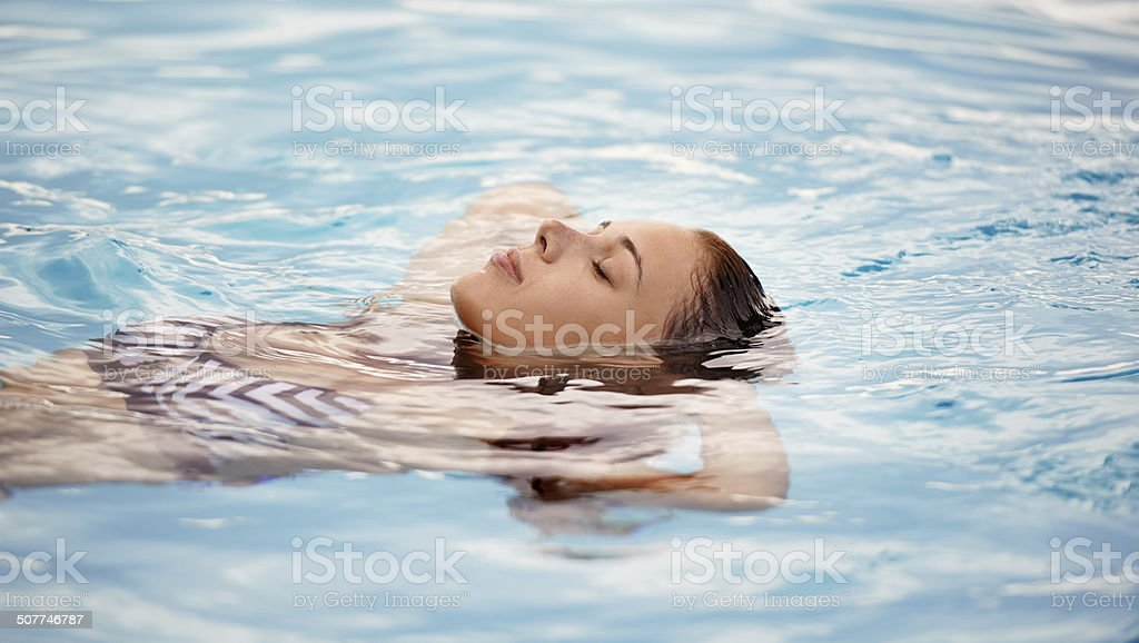 Like floating on a cloud stock photo