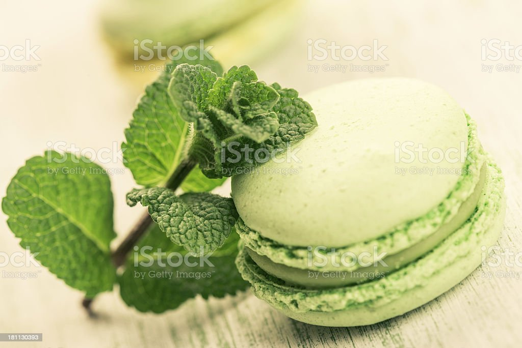 Mint Macaroon royalty-free stock photo