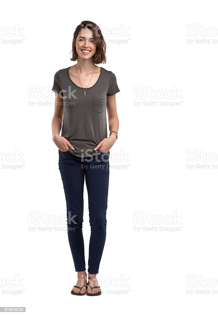I like my style casual and comfortable stock photo