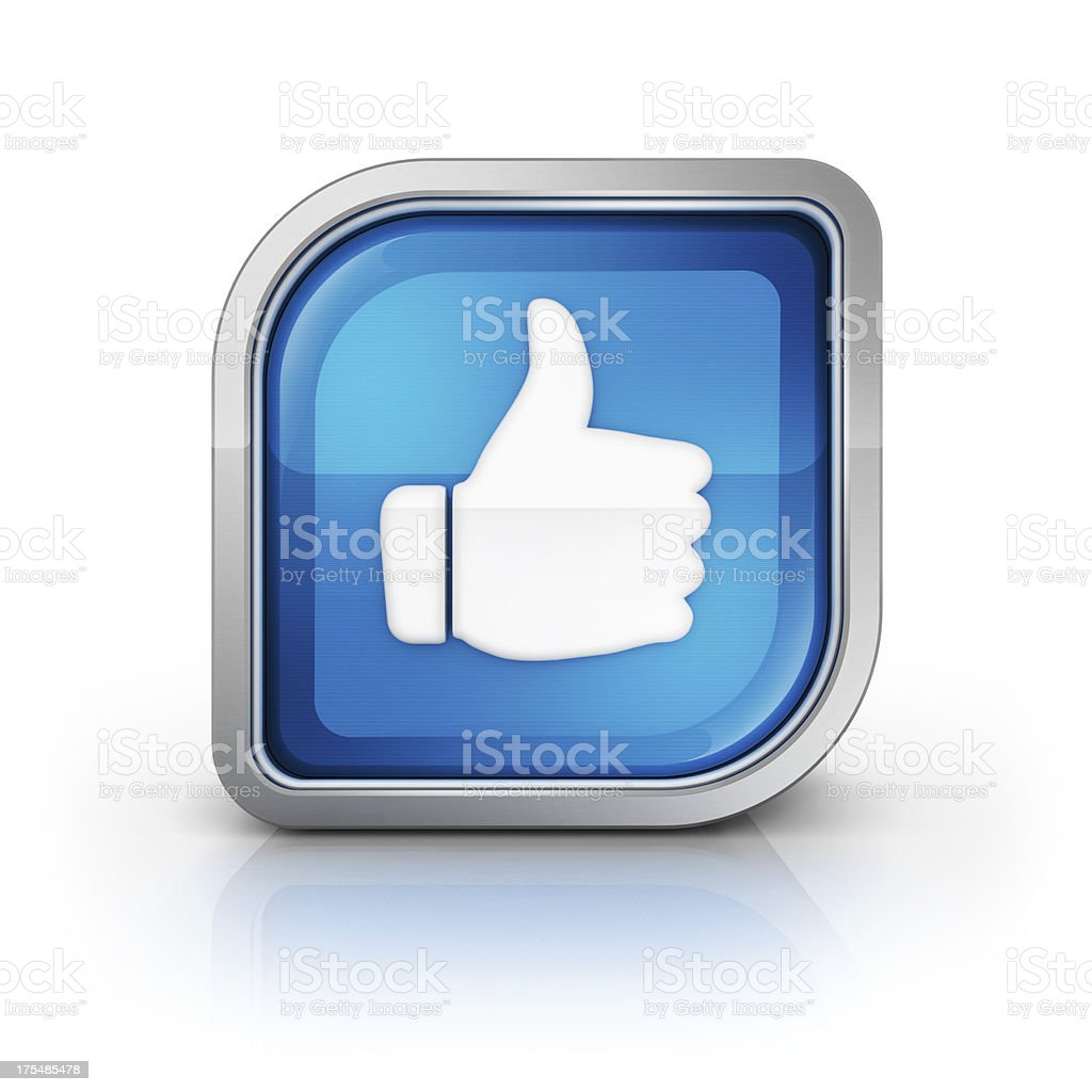 like or thumbs up glossy icon royalty-free stock photo