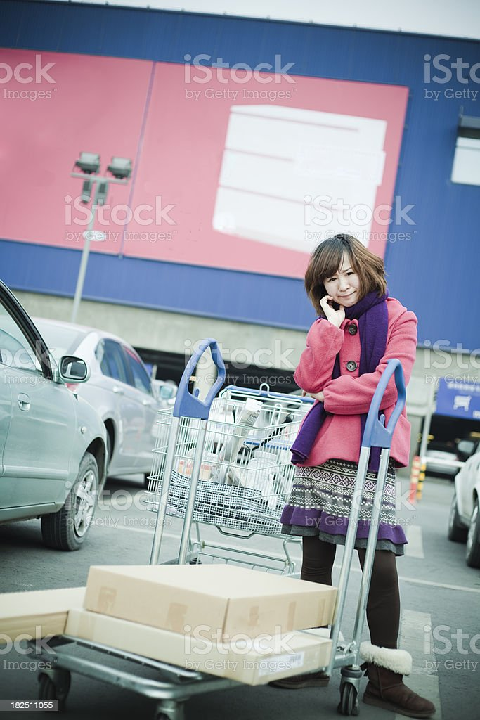 I like shopping royalty-free stock photo