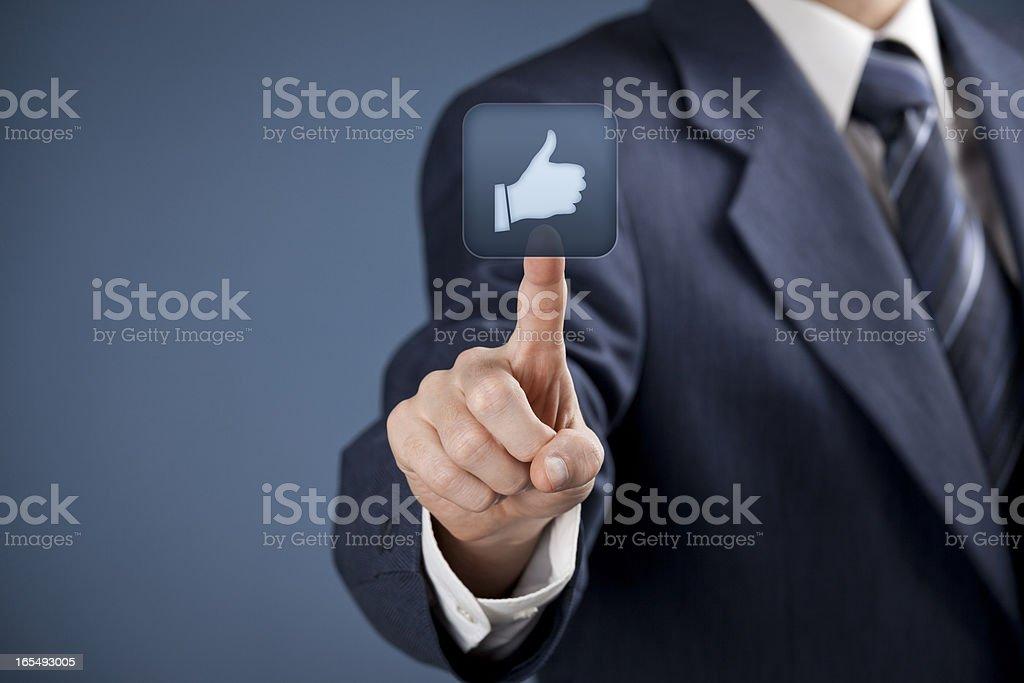 Like - social media royalty-free stock photo
