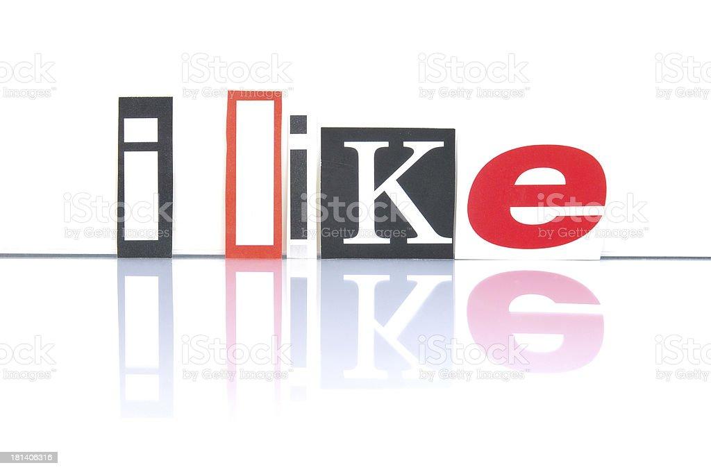 I Like Social Media royalty-free stock photo