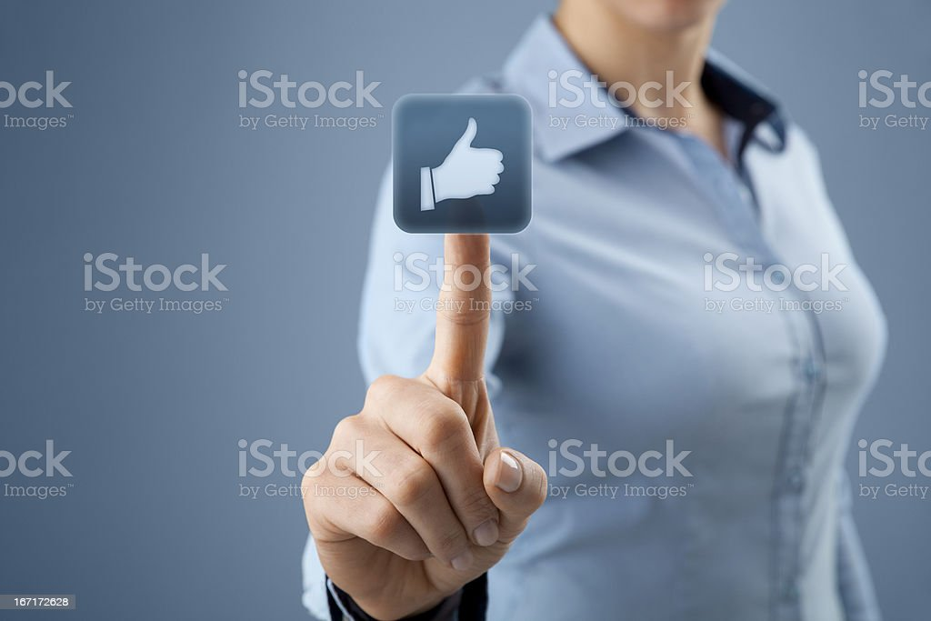 Like - social network royalty-free stock photo